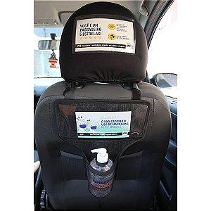Porta Álcool Gel Para Veiculos Com Cartões Informativos - RAQ