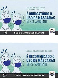 Cartões Uso obrigatório / Uso recomendado de máscaras