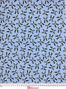 Tricoline Panda Fundo Azul Bebê Caldeira 180599 ( 0,50 m x 1,40 m )