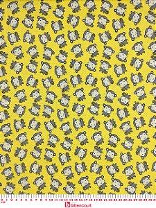 Tricoline Macaquinhos Fundo Amarelo Caldeira 180540 ( 0,50 m x 1,40 m )
