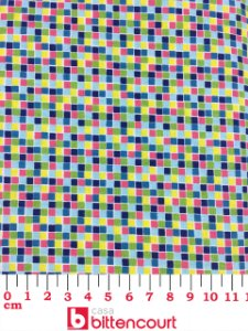 Tricoline Pixel Tons de Verde Círculo ( 0,50 m x 1,40 m )