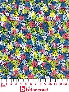 Tricoline Folhagem Colorida Círculo ( 0,50 m x 1,40 m )