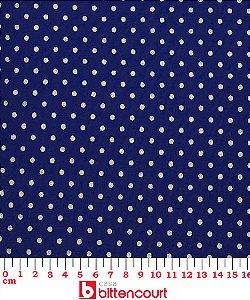 Tricoline Poá Dourado Fundo Azul Marinho Fernando Maluhy ( 0,50 m x 1,40 m )