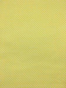 Textolen Poá Branco Fundo Amarelo ( 0,50 m x 1,40 m )