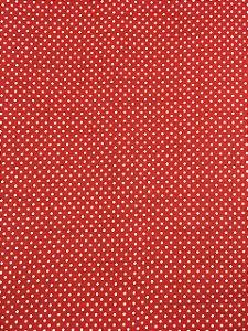 Textolen Poá Branco Fundo Vermelho ( 0,50 m x 1,40 m )
