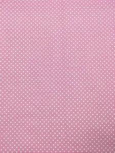 Textolen Poá Branco Fundo Rosa ( 0,50 m x 1,40 m )