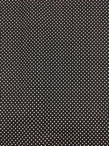 Textolen Poá Branco Fundo Preto ( 0,50 m x 1,40 m )