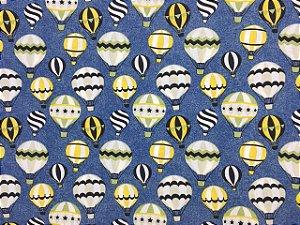 Tricoline Balões Fundo Azul Caldeira ( 0,50 m x 1,40 m )