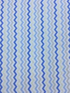 Tricoline Chevronzinho Tons de Azul Caldeira ( 0,50 m x 1,40 m )