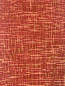 Tricoline Xadrez Dourado com Fundo Vermelho ( 0,50 m x 1,40 m )