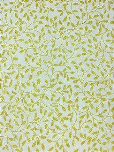 Tricoline Raminhos Dourados Fundo Off-White ( 0,50 m x 1,40 m )