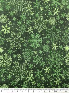 Tricoline Floco de Neve Verde com Fundo Verde ( 0,50 m x 1,40 m )