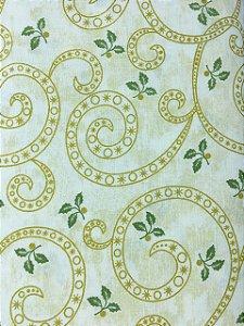 Tricoline Arabesco Dourado Natalino ( 0,50 m x 1,40 m )