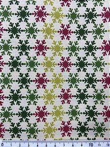 Tricoline Flocos de Neve Coloridos ( 0,50 m x 1,40 m )