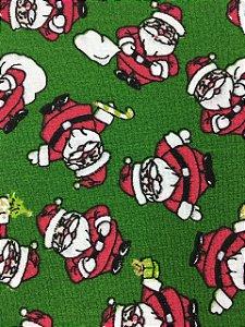 Tricoline Papai Noel Pequenino Fundo Verde ( 0,50 m x 1,40 m )