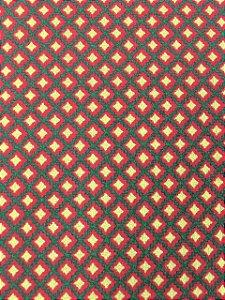Tricoline Geométrico Vermelho Natalino ( 0,50m x 1,40 m )