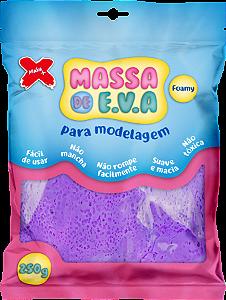 MASSA DE EVA P/ ARTESANATO 250 G - ROXO