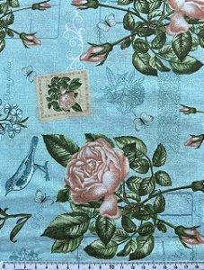 Tricoline Floral 327872 Círculo ( 0,50 m x 1,40 m )
