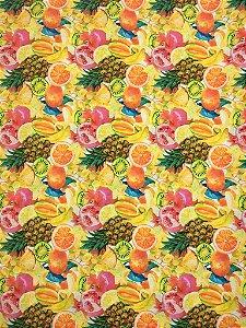 Tricoline Digital BT04 Coleção Tropical Casa Bittencourt ( 0,50 m x 1,40 m )