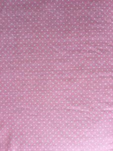 Feltro Estampado Poá Branco Fundo Rosa Santa Fé ( 0,50 m x 1,40 m )