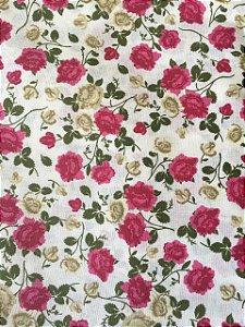 Tricoline Floral Pink Dohler ( 0,50 m x 1,40 m )