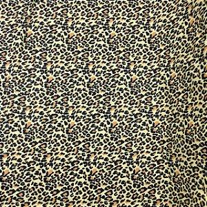 Tricoline Animal Print Oncinha ( 0,50 m x 1,40 m )