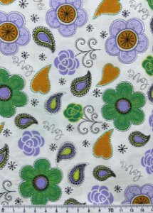 Tricoline Floral ( 0,50 m x 1,40 m )