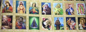 Tricoline Religião em Quadros ( 0,50 m x 1,40 m )