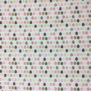 Tricoline Ovinhos de Páscoa Rosa Estilotex ( 0,50 m x 1,40 m )