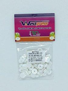 Botão de Plástico Branco Westpress 10 ( pct com 20 unidades )
