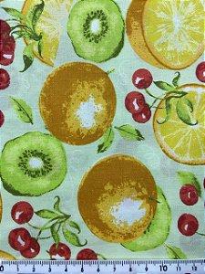 Tricoline Frutas Círculo 351997 cor 2183