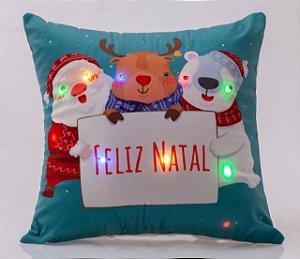 Capa para Almofada Natalina com LED Noite Feliz 5 ( 44 cm x 44 cm )