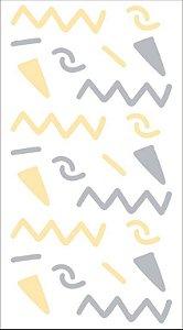 Kit Adesivos de Parede TRAÇOS DCR0009 ( 5 cartelas )