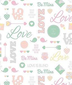Adesivo de Parede Love DC0022 ( 0,52 m x 3,0 m )