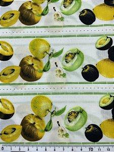 Tricoline Frutas Amarelas Barrado ( 0,50 m x 1,40 m )