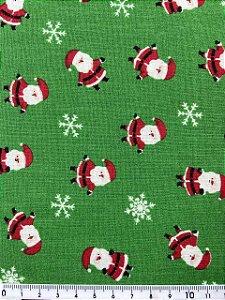 Tricoline Pequeno Papai Noel Fundo Verde ( 0,50 m x 1,40 m )
