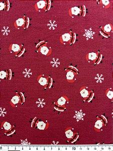 Tricoline Pequeno Papai Noel Fundo Vermelho ( 0,50 m x 1,40 m )