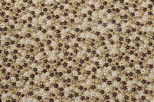 Tricoline Florzinhas Marrons ( 0,50 m x 1,40 m )