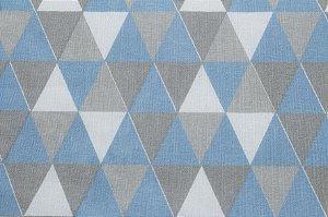 Tricoline Triângulos Geométricos Azuis ( 0,50 m x 1,40 m )