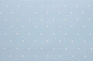 Tricoline Mix Poás fundo Azul Bebê  ( 0,50 m x 1,40 m )
