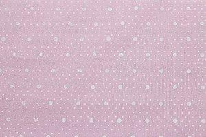 Tricoline Mix Poás fundo Rosa Bebê  ( 0,50 m x 1,40 m )