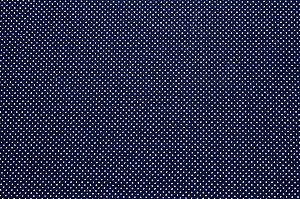 Tricoline Micropoá Branco fundo Azul Marinho ( 0,50 m x 1,40 m )