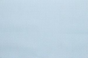 Tricoline Micropoá Branco fundo Azul Bebê ( 0,50 m x 1,40 m )