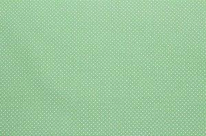 Tricoline Micropoá Branco fundo Verde Claro ( 0,50 m x 1,40 m )