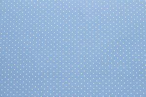 Tricoline Poá Branco fundo Azul Bebê ( 0,50 m x 1,40 m )