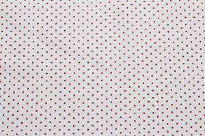 Tricoline Poá Vermelho fundo Branco ( 0,50 m x 1,40 m )
