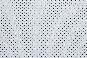 Tricoline Poá Preto fundo Branco ( 0,50 m x 1,40 m )