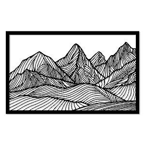 Aplique de Parede Geométrico Montanhas Linhas Em Madeira