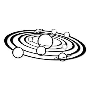 Aplique de Parede Sistema Solar Em Madeira