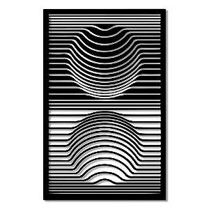 Aplique de Parede Geométrico Circulo Ilusão Circular Em Madeira